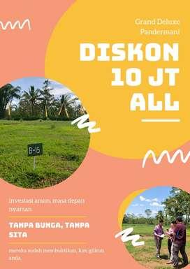 Diskon 10 JT !! Tanah Kavling murah di Malang pilih aja sembarang !