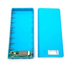 8 Cell 5V Dual USB Power Bank Box Case For 18650 Battery With LED in P
