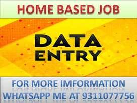 Home based job ad posting part time work data entry job typing work Da