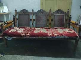 SAGWAN SOFA + 2 Sofa Chairs + TV shelf