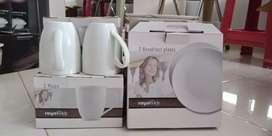 6 mug 14 piring