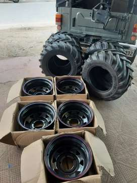 Big grip tractor type Jeep tyre fit in all modified thar