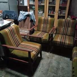 Jual Cepat Set Kursi Sofa Jati, Kuat dan Awet