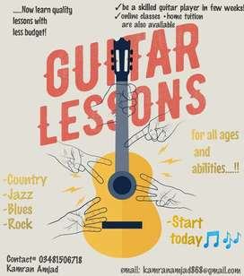 Now get quality Guitar lesson in low budget