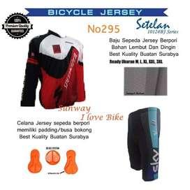 AF203 Harga Promo COD Setelan Baju Dan Celana Sepeda Gratis Onkir