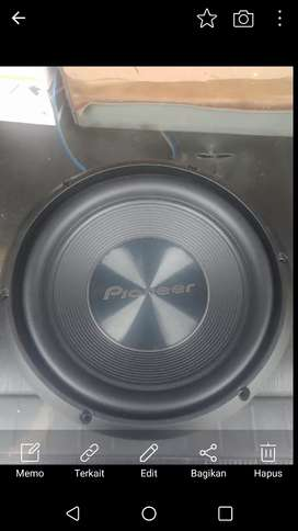 Subwoofer pioneer 10 inch dual magnet