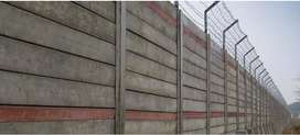 Wooden design  precast boundary walls and control sheds