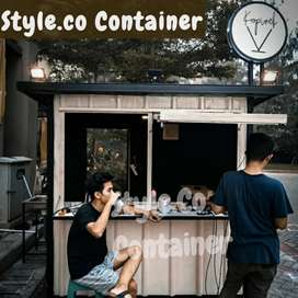 BOOTH CONTAINER CUSTOM | CONTAINER FRENCHISE SEMI CAFE | CONTAINER