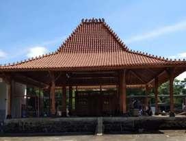 Pendopo Joglo Kayu Jati SokoUtama 20cm Ukir Tumpangsari