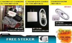 BESTSELLER!! CHARGER XIAOMI All Type Garansi 2 Bulan FREE socket