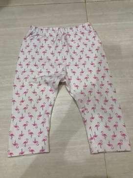 Legging uniqlo baby flamingo 3/4 size 100