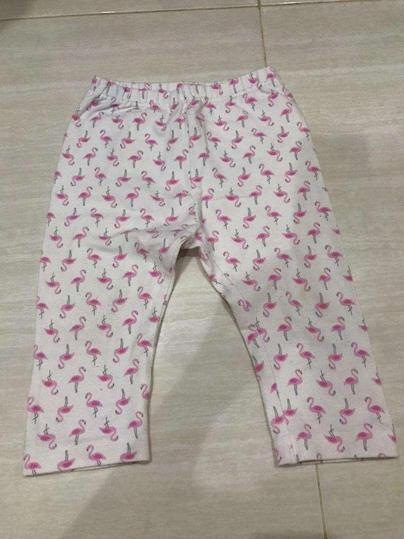 Legging uniqlo baby flamingo 3/4 size 100 0