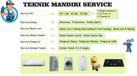 Service Kulkas Mesin cuci Frezerbox Water heater, Pasang Ac, Pompa air