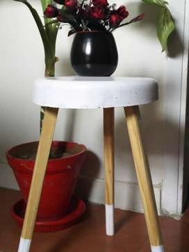 Cement table for decoration
