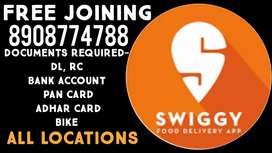 (SWIGGY)URGENTLY REQUIRED FOOD DELIVERY BOYS FREE JOINING, BHUBANESWAR