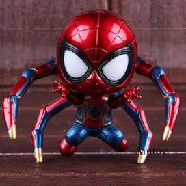 action figure cosbaby iron spider man STANDING iron man dg lampu LED