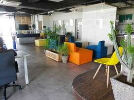 Furnish office available for rent from 500 to 10000 sqft