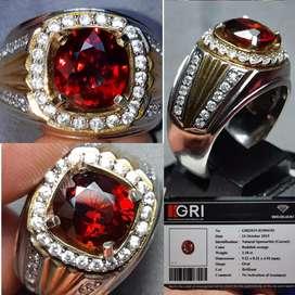 Batu Natural Reddish Spessartite Garnet 3.18crt memo GRI