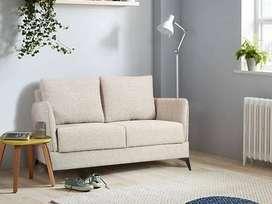 Corita 2 Seater Ultra Soft Cotton Fabric Sofa