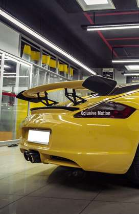 Abs and carbon fibre spoilers for Audi BMW Benz