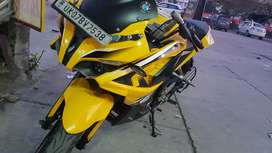 Brand yellow color pulsar 200rs new condition