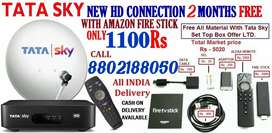 TaTa Sky DTH New HD CONNECTION Fire Stick Free
