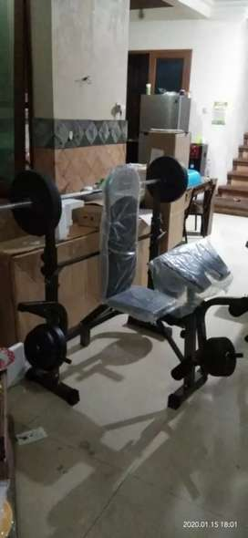 Alat Fitness Bench Press + Beban 40kg