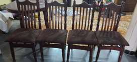 Almirah, dinning table with chairs, dressing table and study table