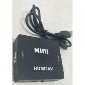 1080P Mini Composite HDMI To AV ke 3 RCA AV CVBS HDMI2AV iw1