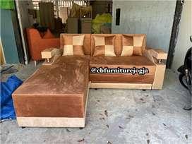 Sofa L bed , murce dan bergaransi