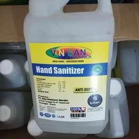 hand sanitizer cair vinsan 5L Kemenkes JUAL RUGI