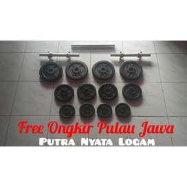 COD Jogja Paket Dumbell Barbell Plus Sambungan 60kg Free Ongkir Jawa
