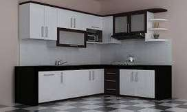 Kitchen Set partisi ruangan backdrop furniture Dipan HPL DO