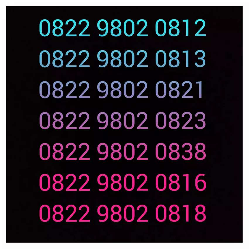 Nomor perdana cantik 0