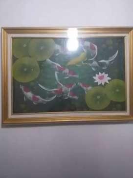 Lukisan 9 ikan koi