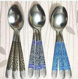 Jual sendok makan,garpu batik 1lusin dll harga beda2 jl  Sriwijaya