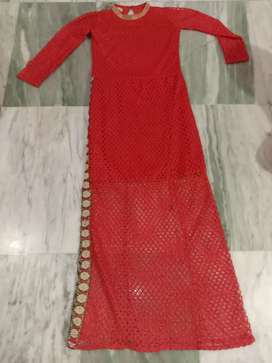 Red fishcut gown