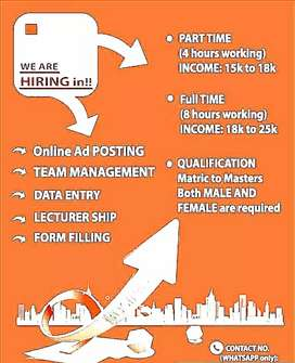 Male and females apply now