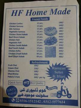 HF Home Made Frozen Food & Cooked Food