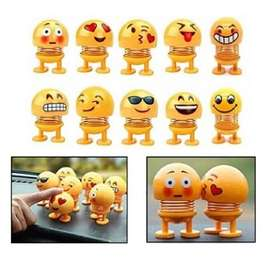 Boneka Emoticon Pajangan For Car Spiral Neck