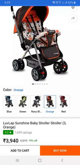 LuvLap 3side Baby Stroller. Almost New.