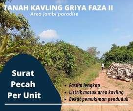 Tanah Kavling Griya Faza, Area Talang Belido: Dekat Pemukiman Penduduk
