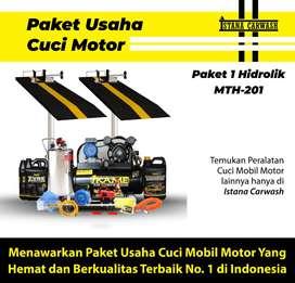 Paket Peralatan Usaha Cuci Motor 2 Hidrolik
