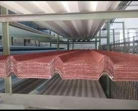 Dijual atap spandek pasir merah, hitam 64.000