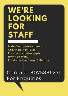 Urgent Requirement for Staff at Bistro Cafe