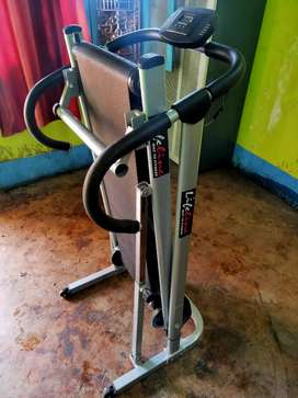 Manual treadmill.