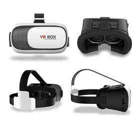 VR Box Virtual Reality 3D Glasses white with remote