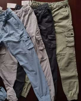 Branded cotton cargo pants stocks available supplies