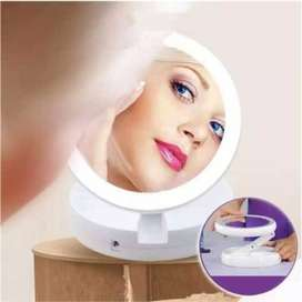 Fold Away Led Makeup Mirror Double-Sided Rotation Touch Screen Portabl