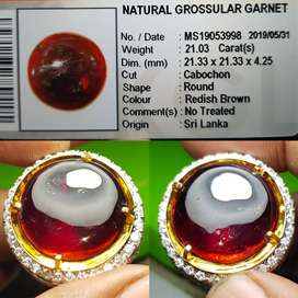 natural grosular garnet 21.03 cts hq